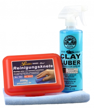 Chemical Guys Clay Luber + Magic Clean 200 rot +AGW MFT Clay Kit