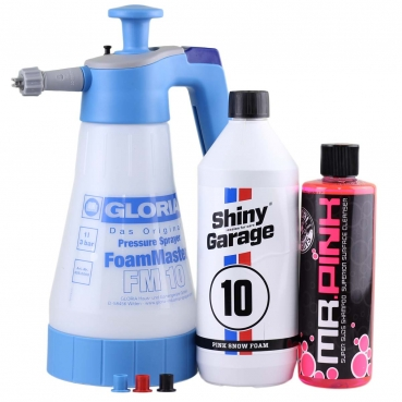 Gloria FM 10 Shiny Garage Pink Snow Foam Chemical Guys Mr Pink Set