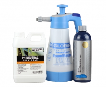 Gloria FM 10 Foam Master + ValetPro Snow Foam 1L + Koch Chemie Nano magic Shampoo 750 ml