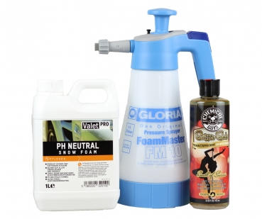 Gloria FM 10 + ValetPro ph neutral + Chemical Guys Stripper Suds 473 ml